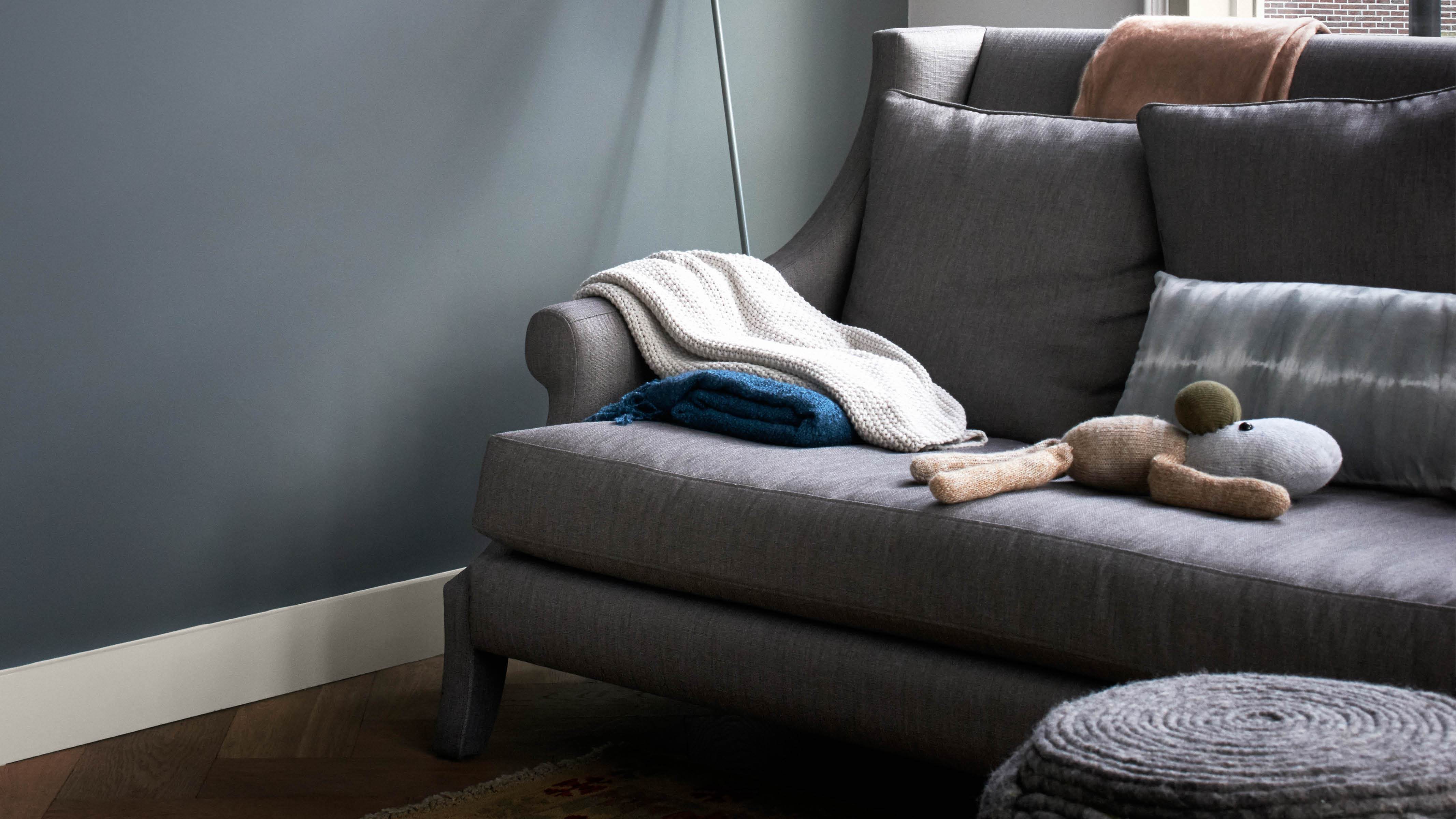 Muted hues like sea green, dove grey, and duck egg have a timeless quality that will evoke a restful environment.