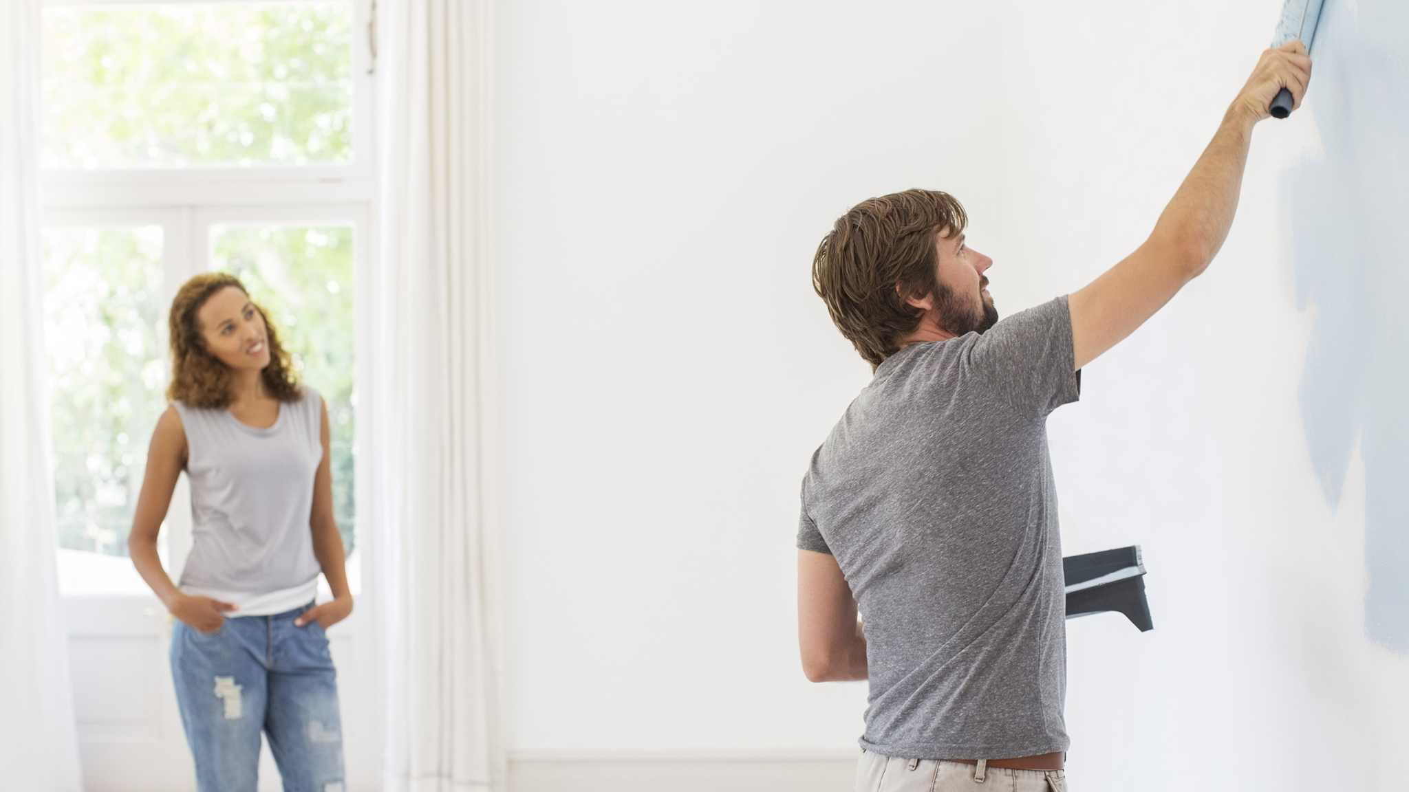 If you love the way a friend's house has been painted, see if you can get the contact details for their decorator. However you track your decorator down, make sure you see some examples of their work before you hire them.