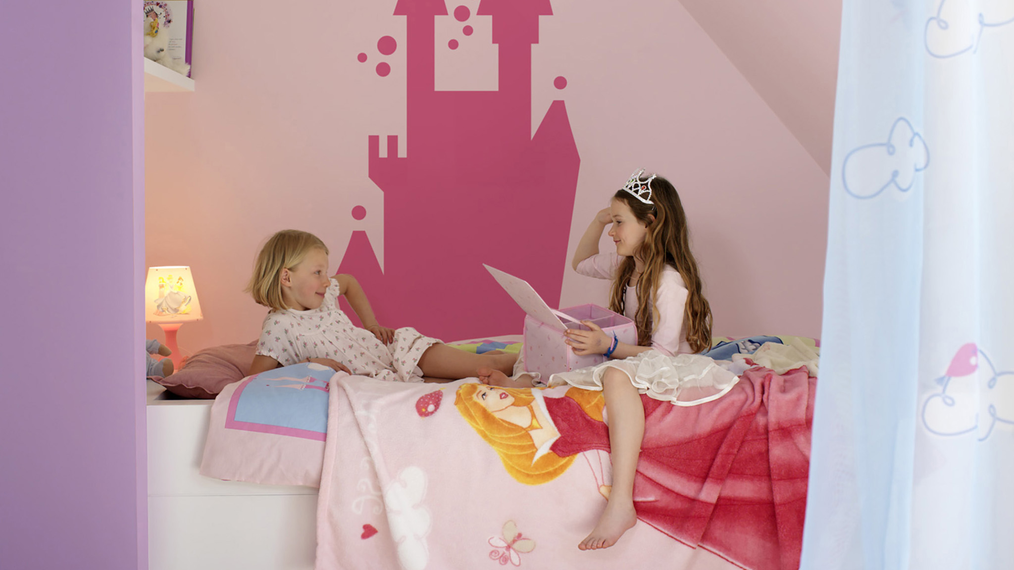 Give children a sense of stability after moving house by painting their new bedroom the same colour as their old room.