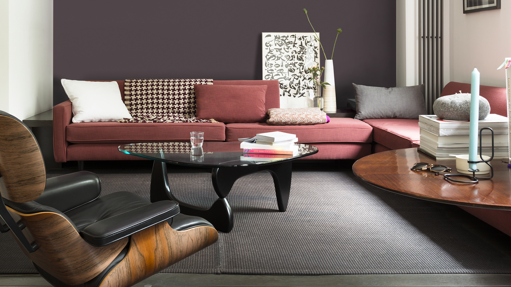 A deep, chocolatey shade of red will deliver plenty of drama to your new home