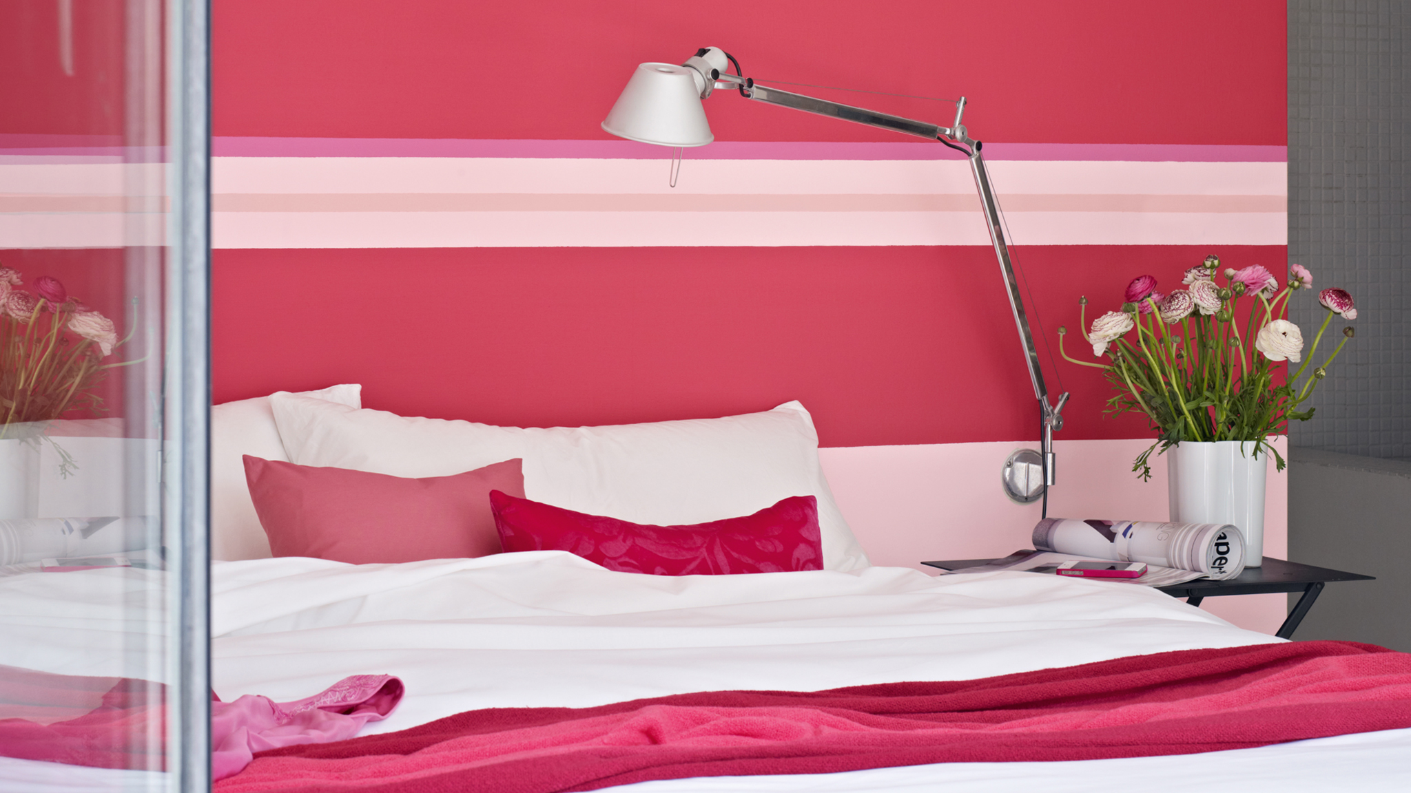 Choose deep, berry tones in a bedroom - they are subdued enough to be restful but rich enough to make an impact
