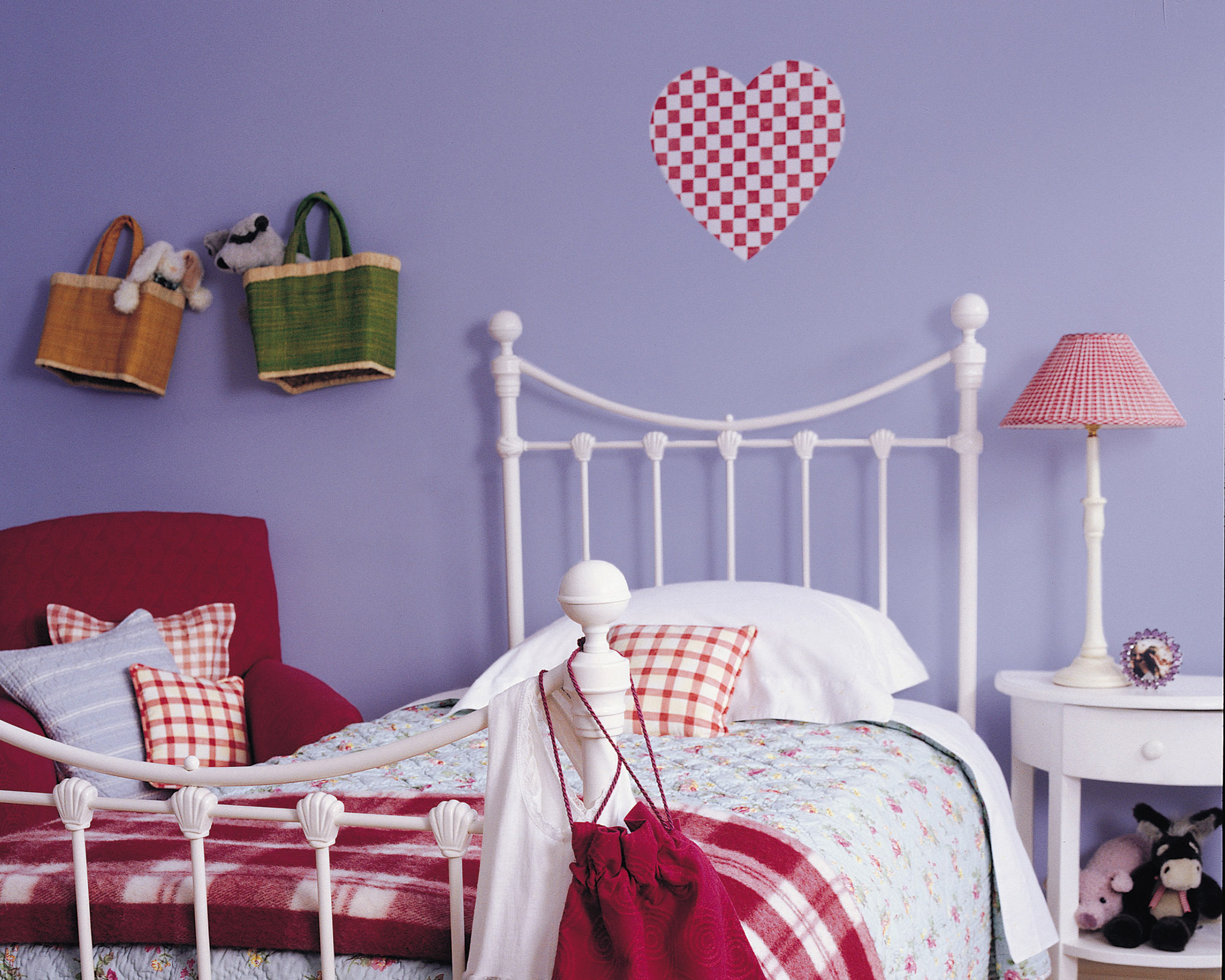 Try decorating with violet for a versatile girl's bedroom