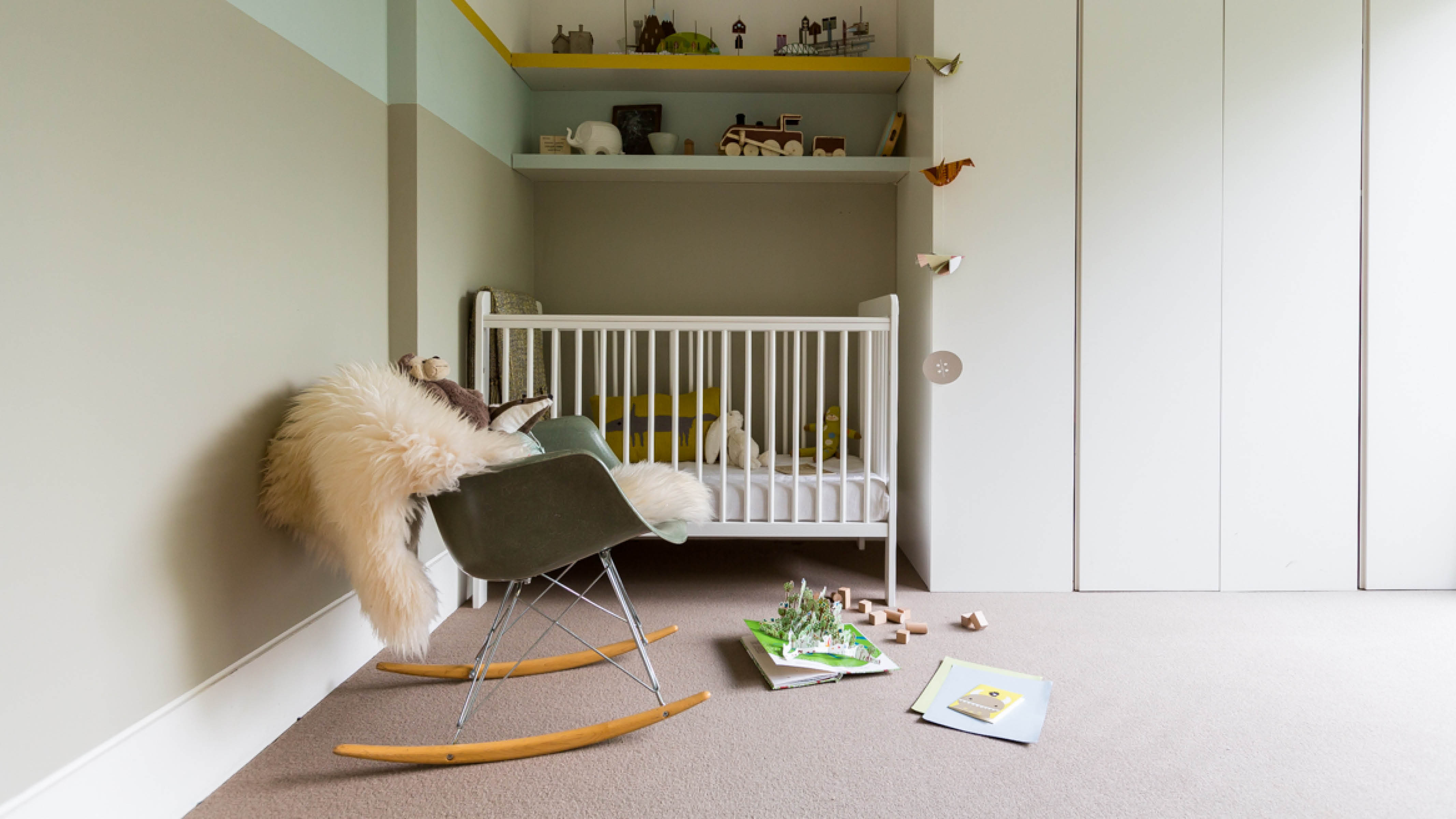 When choosing your gender-neutral colour scheme, think simplicity: the idea is to create a beautiful, neutral canvas that can be dressed up with soft furnishings and other accessories once your baby is born.