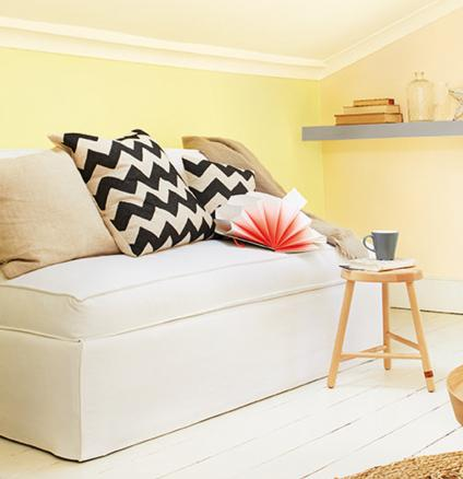 Decorate your home with accents of buttercup yellow for a cheerful colour scheme all year round.