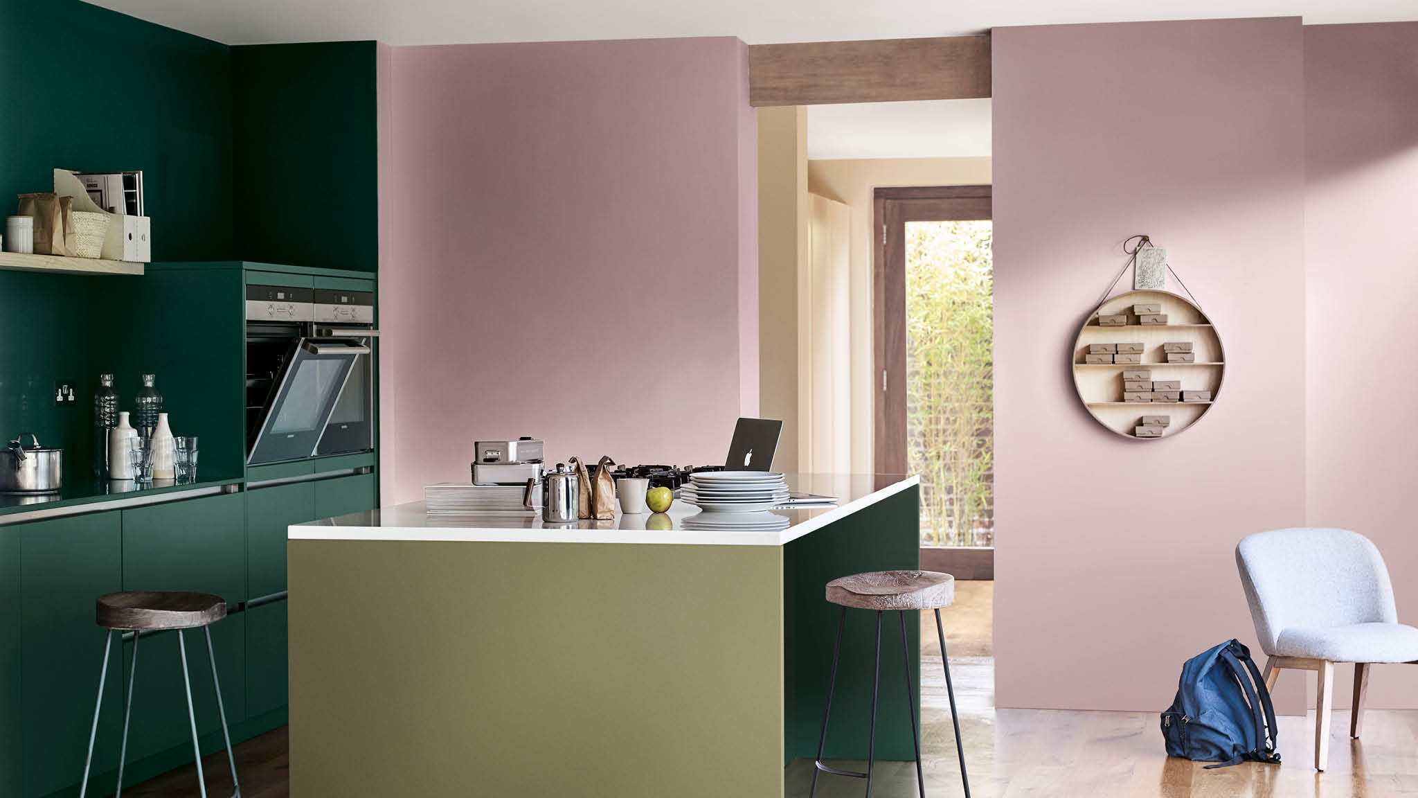 Use energetic colours like green with Heart Wood in your kitchen