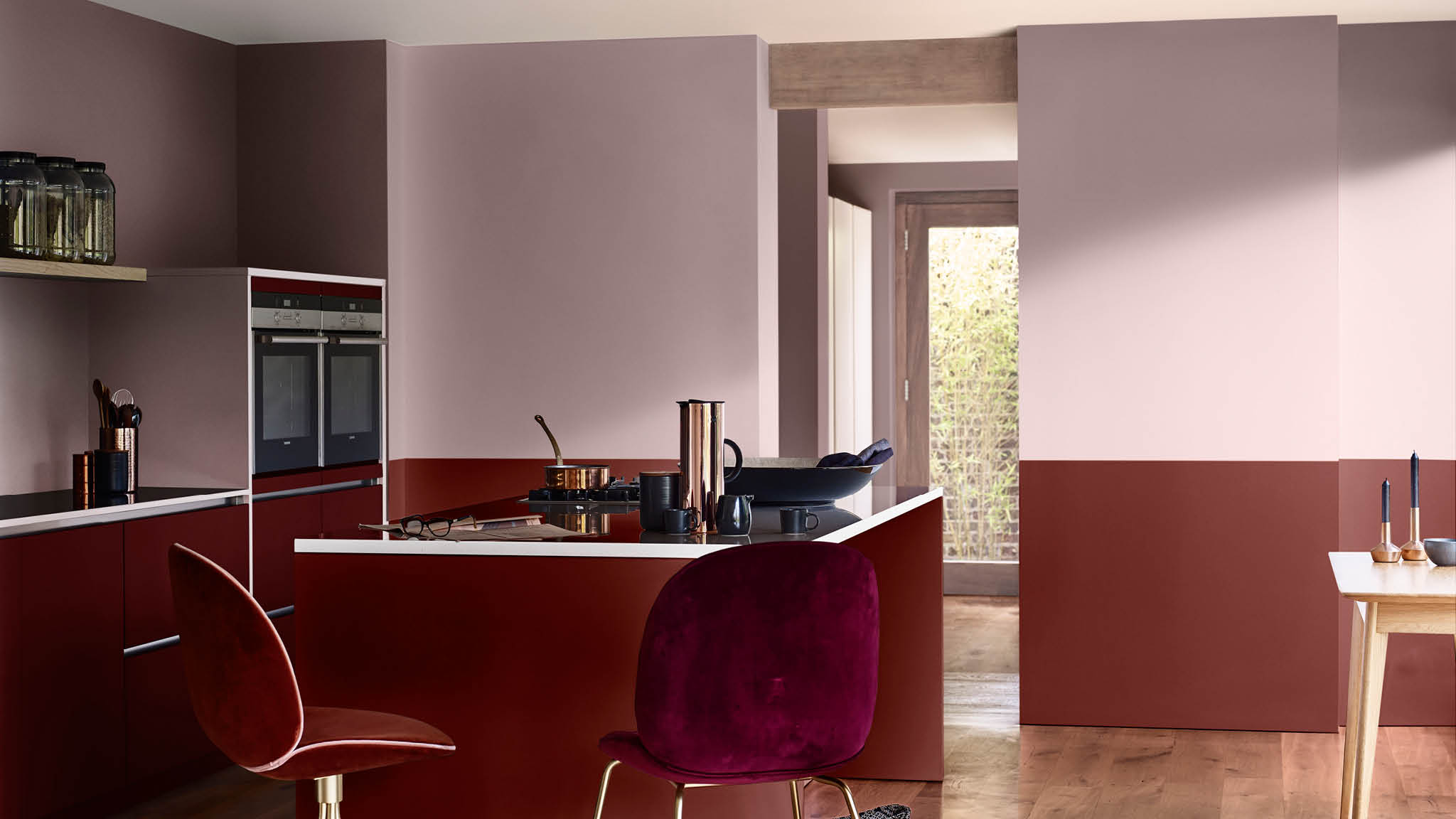 Pair Heart Wood with warm tones in your kitchen