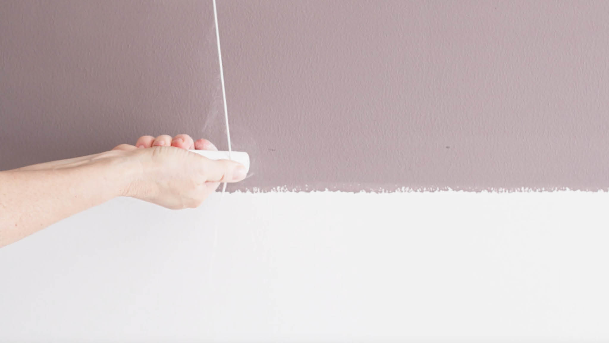Remark the line where your two tones will split with chalk and string
