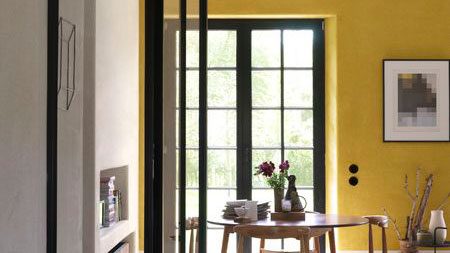 In rooms that generally warm up later in the day, go for sunny yellows to create a bright, welcoming morning space
